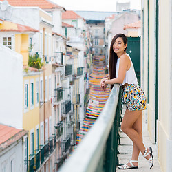 Minh Nguyen - Zara Shorts, Asos Shoes - Colorful Lisbon
