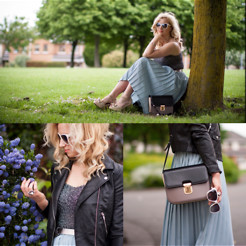 Veronika Byrne - H&M Biker Jacket, Vintage Skirt&Top, Marks&Spencers Bag, Limited Edition - Rock your Pastels!