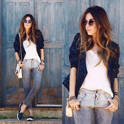 Flávia Desgranges van der Linden - Sly Wear Pants, Dafiti Jacket, Ui! Gafas Sunglasses, Iloveflats Shoes - Kind of Blue