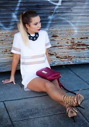 Anna Whyte - Dress, Oroton Bag - Industrial