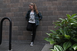 Taylor Speegle - Forever 21 Flannel, Forever 21 Black Jeans, Converse Black - We are the outcasts
