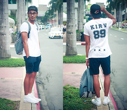 Rodel Flordeliz - Soleslam Manila Snapback, Kirv Apparel Shirt, Kirv Apparel Crotch Shorts, Anna Philippines Maong Backpack, Converse Sneakers - Jersey Number 89