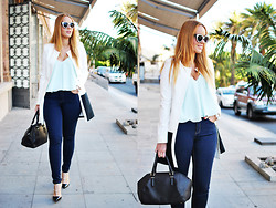 Nery Hdez - Zerouv Sunglasses, Very Simple Coat, Stradivarius Jeans, Mart Of China Sandals - Very Simple