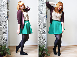 Carina R. - H&M Cardigan, Pimkie Shirt, H&M Skirt - An old chestnut