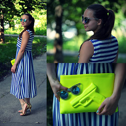 Mrjnwalker Nika - 6ks Dress, Choies Pistol Bag, Oasap Sunnies, Zara Heels - Carrying a pistol lol