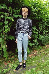 Luke Heywood - Ebay Polka Dot Shirt, Frontrowshop High Waisted Mom Jeans., Shoe Zone Dr Marten Styled Brogues. - Polka Days