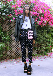 Gizele Oliveira - Brashy Couture T Shirt, Forever 21 Pants - Milk bag