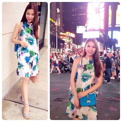 Quynh Pham - Valentino Clock Bag, Zara Flower Dress, Zara Pearl Necklace - Mandatory stop at night