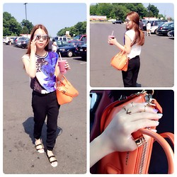 Quynh Pham - Zara Pant, Zara Top, Christian Dior Sunglass, Givenchy Bag, Zara Flip Flop, H&M Rings - Our Road trip