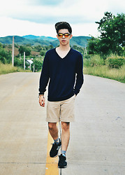 Michael Fernandez - Oxygen Snapback, Uniqlo Shirt, Ralph Lauren Shorts, New Balance Shoes - 55