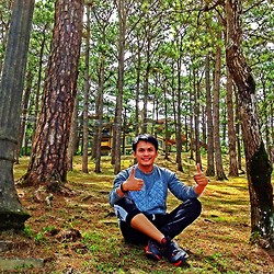 Bibo Bayona - Forever 21 Top, Forever 21 Jogger Pants, Nike Shoes, Folded & Hung Bracelet - Weekend In Baguio