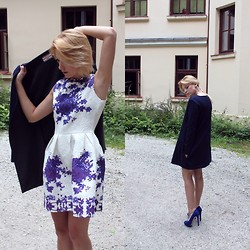 Izabela Żukowska - Locked On Fashion Flower Dress - Cobaltic love.