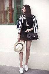 Konstantina Tzagaraki - Romper, Blazer, Flats, Chanel Bag - It's important when you look at yourself to see you..