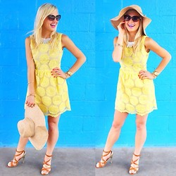 Lauren Vandiver - Simply Chic Dress, Nine West Hat, River Island Sunglasses, Guess? Heels - SUNNY DRESS