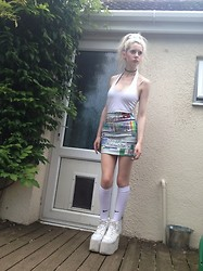 Laura King - Dorothy Perkins Halterneck Top, O Mighty Weekend Windows 95 Skirt, Nike Football Socks, Yru Qozmo Hi - Living In a Material World