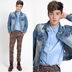 Vini Uehara - Mavi Denim Jacket, A Mulher Do Padre Amp Shirt, Choies Pants, Guidomaggi Shoes - Feeling This
