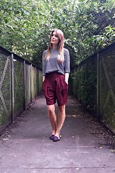 Angharad Jones - H&M Top, Whistles Shorts, Zara Flats - City shorts