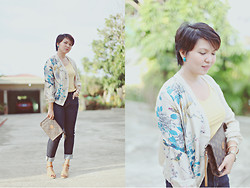 Tricia Domingo - Pull & Bear Kimono Jacket, Uniqlo Jeans, Louis Vuitton Bag, Charles & Keith Sandals - Sunny
