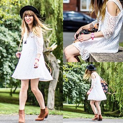 Agata P - Choies Cold Shoulder Lace Dress, Yes For Pink Silicone Watch, Primark Boots - It's A Kindness That The Mind Can Go Where It Wishes