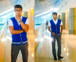 Rodel Flordeliz - Penshoppe Cardigan Sweater Vest, People Are Button Down, People Are Pants, Sm Milanos Dress Shoes - That Schoolboy look