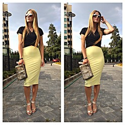 Cagil Korkusuz - Zara Yellow Skirt - 20.07.2014