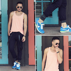Reinaldo Irizarry - Forever 21 Tank, Zara Trousers, Nike Sneakers, Ray Ban Sunglasses, Nike Watch - COLORING OUTSIDE THE LINES