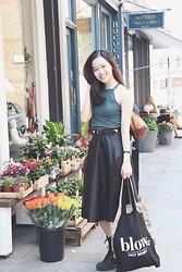 Sher-Fyonn Chua - River Island Cropped Top, Asos Leather Skirt, New Look Boots - Summer Picks