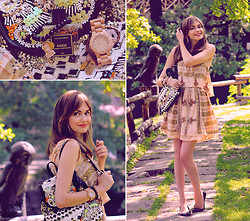 Anastasia K. - Free People Dress, River Island Backpack, Wewood Watches, A Beautiful Story Bracelets - Natural colors. :)