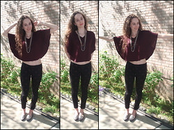 Pauline B - Forever 21 Top, Forever 21 Chains, Forever 21 Polka Dot Skinny Jeans - These Wings Were Meant to Fly