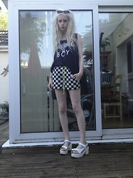 Laura King - Boy London Vest - Checkerboard