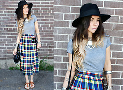 Katia Nikolajew - Bewolf Clothing Skirt - Summertime Plaid...