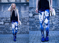 Aleksandra Kupis - Lovely Wholesale Printed Leggings   Corpse Bride - Corpse Bride