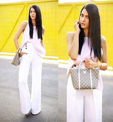 Konstantina Tzagaraki - Dolce & Gabbana Pants, Gucci Bag, Top - The heart has its reasons which reason knows not..