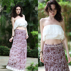 Anastasia Gelfman Silis - Forever 21 Top, Let Them Stare Beach Skirt - Summer Revelations