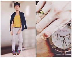 Rhonnel Tan Santos - Topman Blazer, Topman Mustard Tee, Zara Trousers, Zara Shoes, Marc By Jacobs Watch - 072914