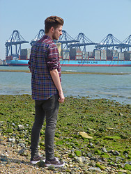 Sam Wood - Marc By Jacobs Multicolor Greenwich Tartan Shirt - WANDERING BY THE ORWELL