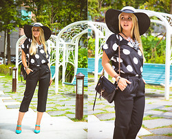 Olga Choi - Oasap Blouse, Choies Pants, Rebecca Minkoff Bag, Blackfive Hat, Young Hungry Free Necklace, Daniel Wellington Watch - Aka Audrey H