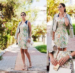 Viktoriya Sener - Sugarhill Boutique Dress, Koton Jacket, Forever New Bag, Mango Sandals, Ray Ban Sunnies, Triwa Watch, Anyshapes Iphone Case - CITY TOUR/CHICWISH $100 GIVEAWAY