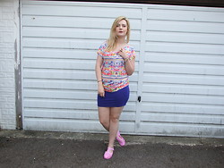 Courtney Melville - House Of Fraser Top, Primark Skirt, Ebay Shoes - Why you gotta be so rude