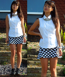Izabella Mae - Topshop Shirt, Dr. Martens Dr, Next Chunky Necklace - On The Wall