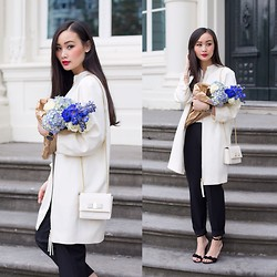 Levi Nguyen - White Coat, Similar:, Suede Sandals, Similar: - THE BLUES #1