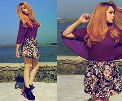 Maria Rondinella - Choies Shirt   Skirt - PURPLE ROSE