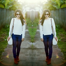 Maylene Salandanan - Colette By Hayman Bag, Cotton On Boots, Valleygirl Knit Top, Valleygirl Jeans - Sweater Weather