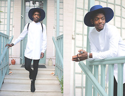 Hugues MSB. - Asos Long Shirt, Blue Hat - FRENCH BLUE HAT