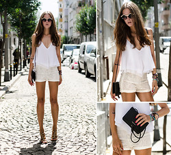 Katerina Kraynova - Sheinside Top, Wholesale7 Shorts, Mango Clutch, Michael Kors Watch - Summer Whites