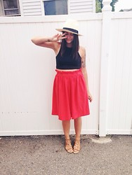 Kayla Castro - Marc By Jacobs Panama Hat, H&M Crop Top, H&M Skirt, Old Navy Sandals - Say yes, say yes.
