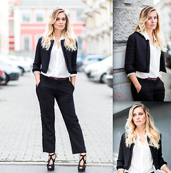 Anna PlastikFlair - Massimo Dutti Belt, Zara High Heels, Tailored Suit - Bossy Day