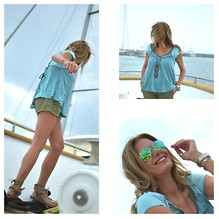 Nina Papaioannou TRENDSURVIVOR - Free People Top, Isabel Marant Sandals - Casual Yacht Attire