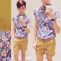 Rhonnel Tan Santos - Topman Button Down, Topman Shorts - Floral Boy