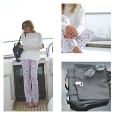 Nina Papaioannou TRENDSURVIVOR - Gucci Lace Pants, Proenza Schouler Backpack - Cruising in White